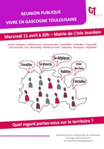 Affiche Réunion Vivre en Gascogne
